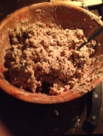 Mix until it looks like cookie dough.