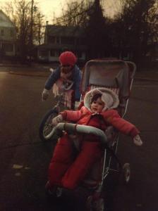 Bridget and I rollin' through Plainfield around 1987