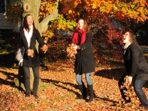 Throw back to Fall of 2011.  LEAVES!