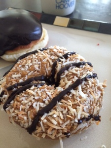 An upside to our move…Montclair Bread Company Samoa Doughnuts.