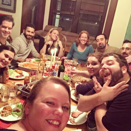 Us at Thanksgiving last year with the whole gang! (photo via Lindsey Weisman)