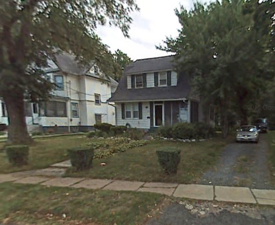 Google Maps screenshot of our house, with the tree mentioned in this post, before it was cut down
